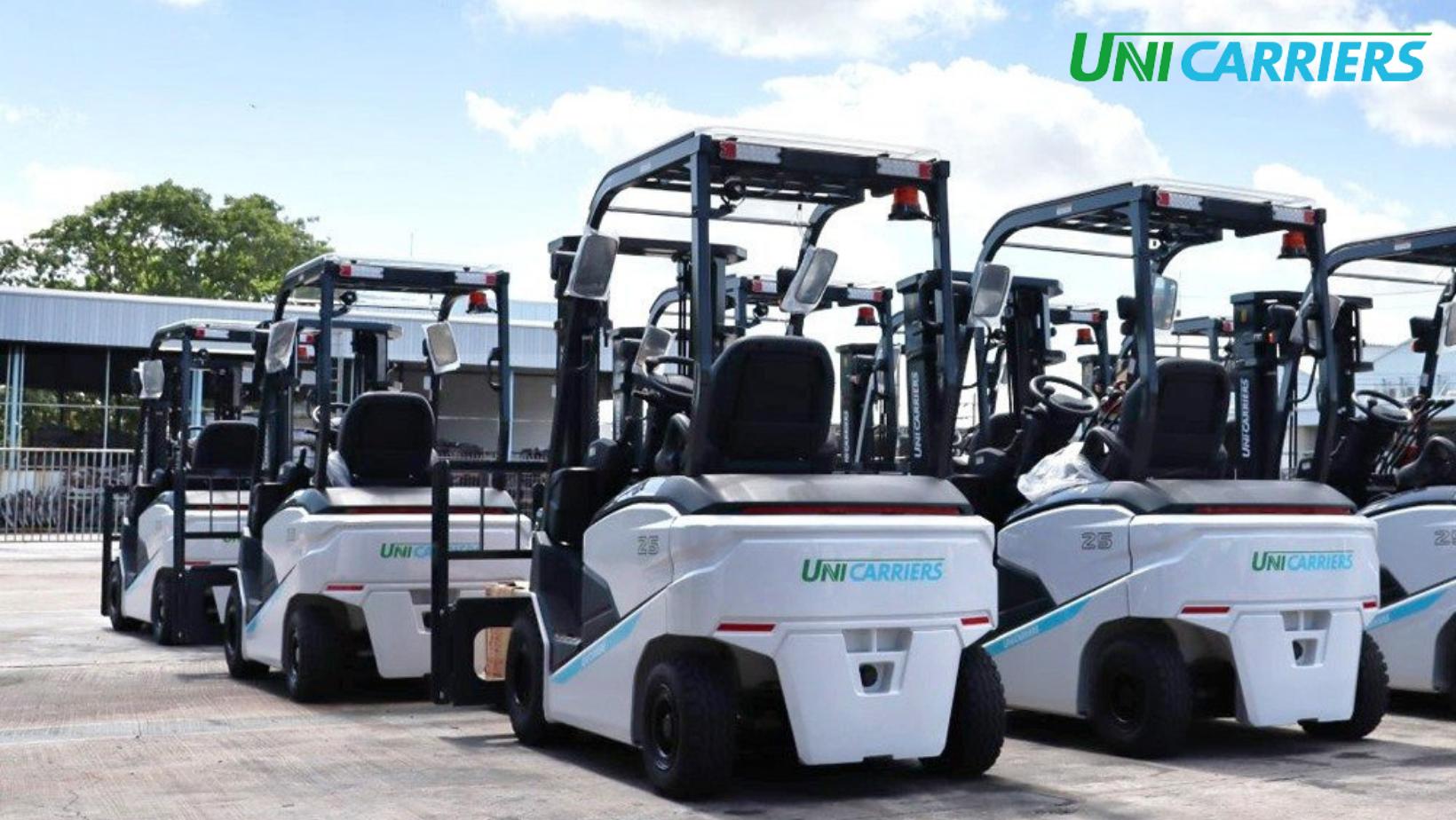 xe nâng điện ngồi lái unicaiers nhật bản