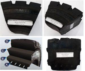 mặt cắt lốp xe nâng TSA